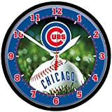 """MLB 2934214 Chicago Cubs Round Wall Clock, 12.75"""""""