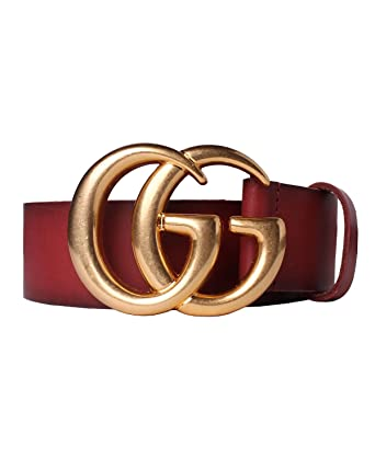 b32120b2974 GUCCI - Leather Belt for Men DOUBLE G (406831CVE0T6438) - red