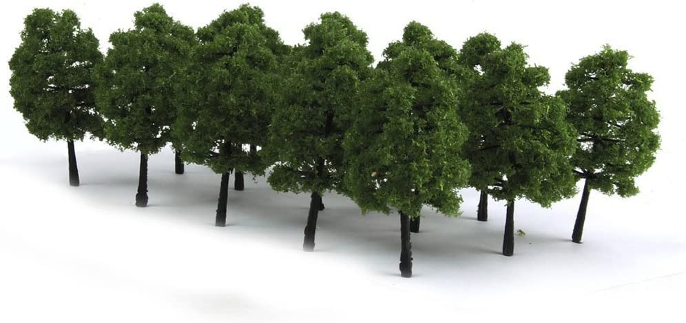 NW 15pcs Mixed Model Trees Model Train Scenery Architecture Trees Model Scenery Iron Wire Model Tree with No Stands(1.57-3.54inch)