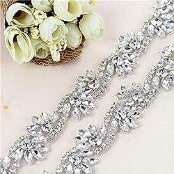 Crystal Rhinestone Applique for Wedding Belts