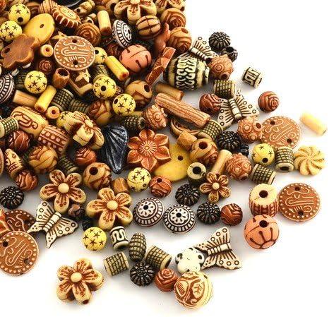 Charming Beads Pacco 30 Grams Ciano//Nero Acrilico 15-25mm Misto Perline HA25975