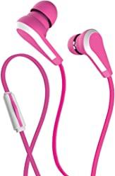 Allure Wired Headset in-Ear Headphones with Integrated Microphone | Corded Stereo Earbuds with 3.5