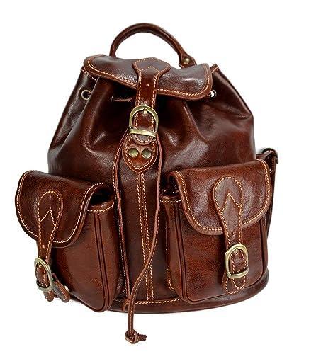 Mochila de piel marron mochila piel mochila hombre mujer mochila de viaje mochila de cuero mochila