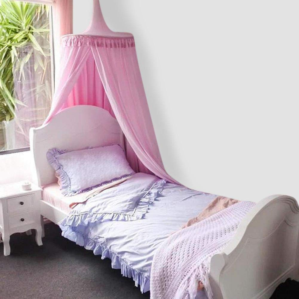 xiaokkiss Bed Canopy Girls/Boys 100 Fine Cotton Enlarged Tassel Canopy Reading Play Tent Children Room Dome Bed Valance for Kids