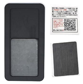 b7c64f7d7e PLATA 手帳型ケース 専用 スライドパーツ 【 ブラック 10枚セット 】 各種 スマホ 対応