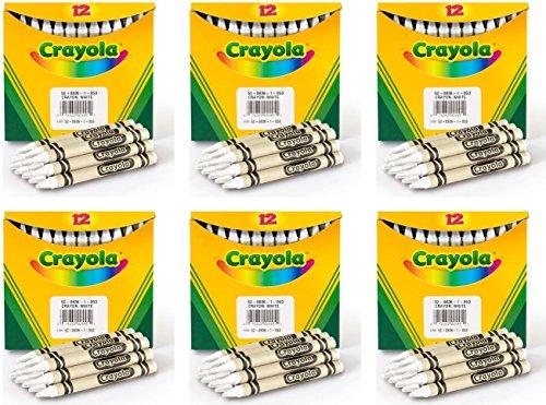 (Bulk Buy: Crayola Crayola Regular Size Bulk White Crayons 12/Pkg (6-Pack))