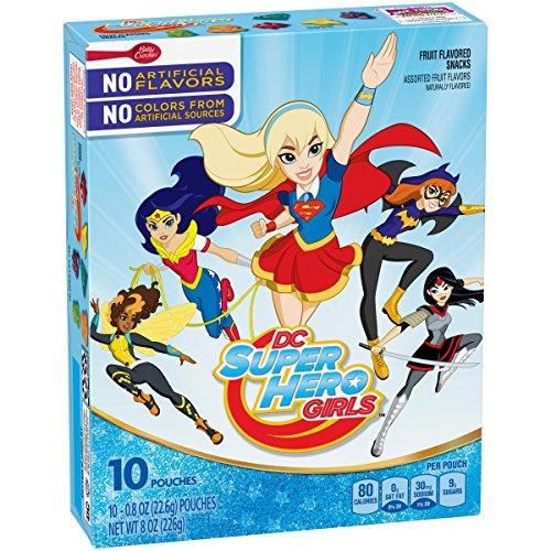 Betty Crocker Snacks Dc Superhero Girls Fruit Flavored Snacks, 10 Count (Pack of 8) -