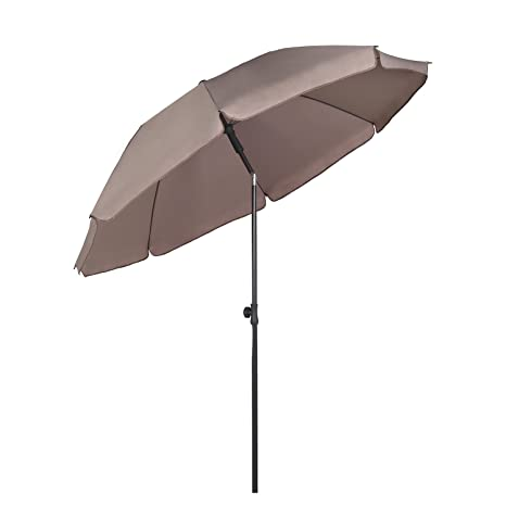 b3ccc092d5e1 Sekey Parasol 200 cm, umbrella for the market, garden, patio, round, cream,  sun protection UV25+: Amazon.co.uk: Garden & Outdoors