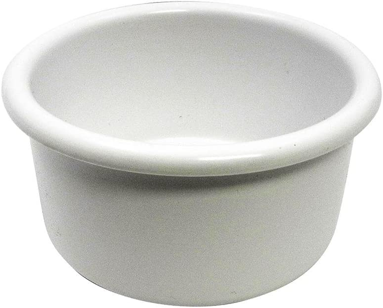 A&H Tool & Die Crock-Style Plastic Bird Dish White 28 oz 6-inch