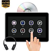$106 » AUTOWINGS 10.1'' Car Headrest DVD Player Touch Screen with IR Headphone, Support 1080P Video, Region Free, Sync Screen, USB SD FM Transmitter…