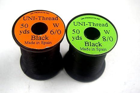 45,72m 50 Yards UNi 1 x Fliegenbinden Bindegarn - Farben zur Auswahl Schwartz