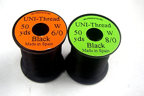 UNi 1 x Fliegenbinden Bindegarn - Farben zur Auswahl GELB 50 Yards 45,72m