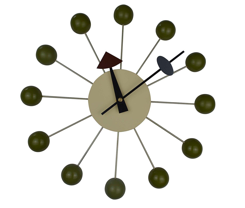 ジョージ ネルソン ボールクロック ( グリーン )  绿い ボールクロック B07BRR6ZZH