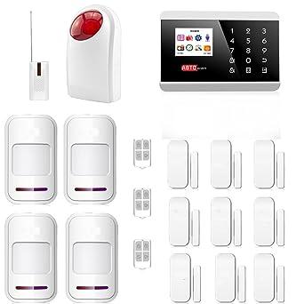 SZABTO Sistema inalámbrico de alarma de línea fija GSM para el sistema de seguridad en el hogar (D)