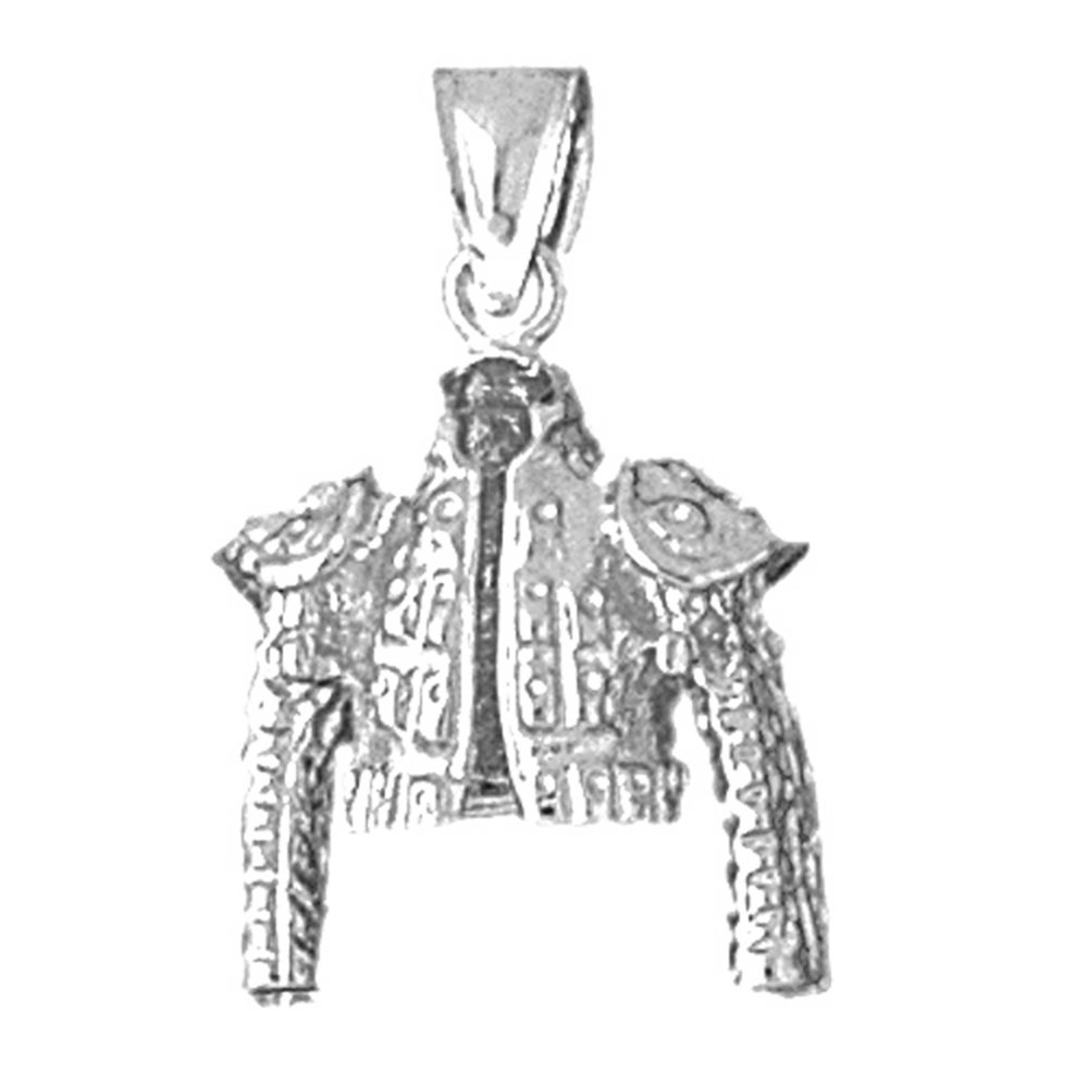 18K White Gold 26mm Matador Jacket Charm Pendant by JewelsObsession