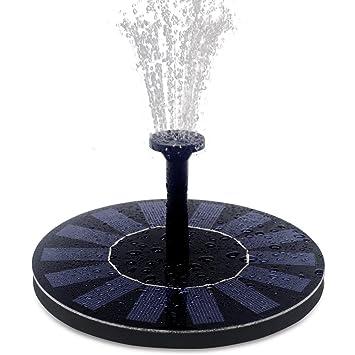 feelle solar powered bird bath fountain pump 14w solar panel water floating pump kit with - Solar Powered Fountain