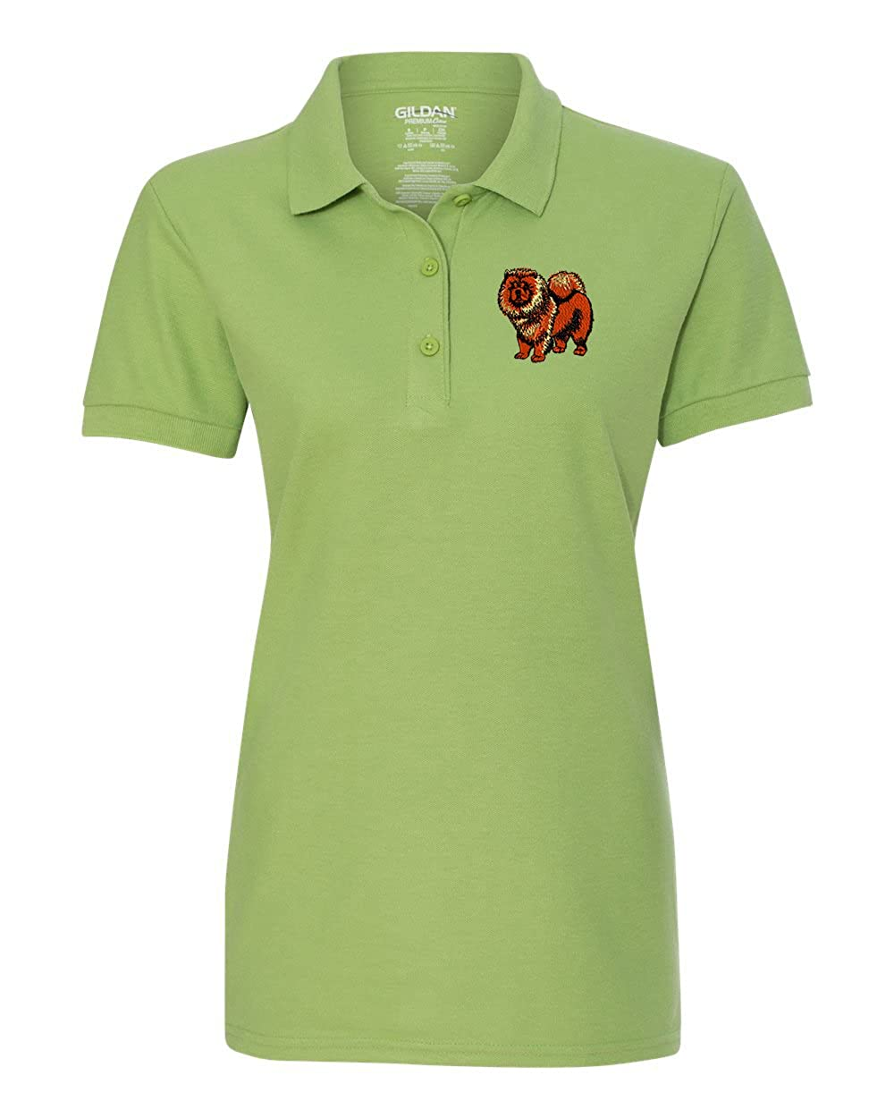 c24f30018 CHOW DOG Custom Personalized Embroidery Embroidered Golf WOMEN Polo Shirt  at Amazon Women's Clothing store: