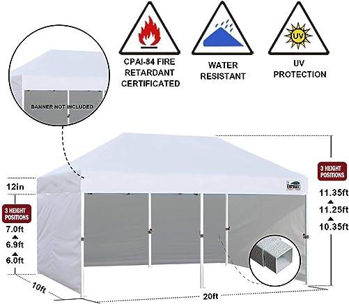 Eurmax 10'x20' Ez Pop-up Canopy Tent Commercial Instant Canopie