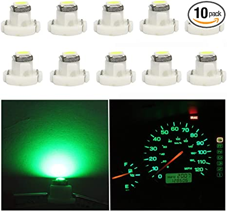 T5 20LM Instrument LED Light Bulb Neo Wedge Panel Gauges Lamp 10x Blue T4.7