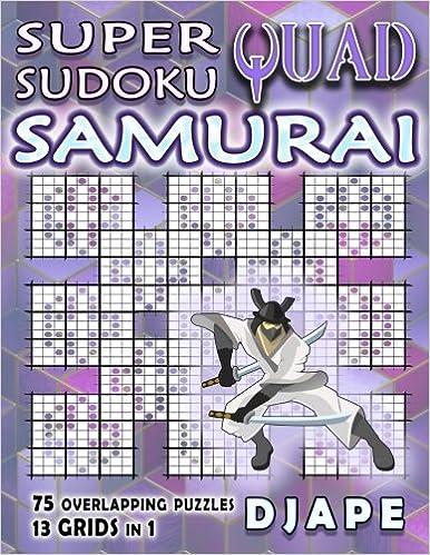 image regarding Washington Post Sudoku Printable named Tremendous Quad Sudoku Samurai: Djape: 9781979466028: