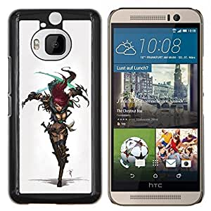 YiPhone /// Prima de resorte delgada de la cubierta del caso de Shell Armor - Cosplay Sexy Guerrero chica Armor - HTC One M9Plus M9+ M9 Plus
