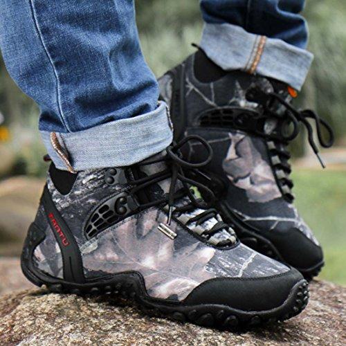 Boots Waterproof Men's Grey Mountaineering Puremee High Outdoor Shoes Climbing Hiking Shoes Top 5nYAw4xP