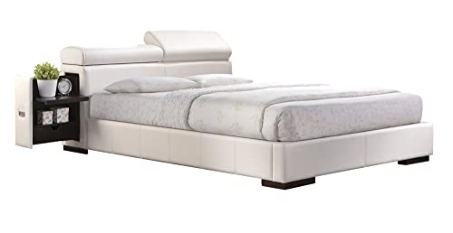 ACME Manjot Eastern King Bed – 20417EK KIT – White PU