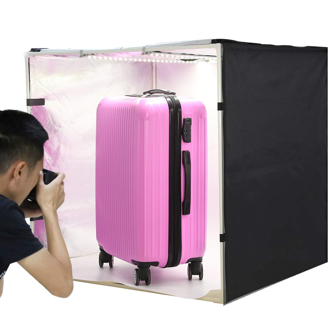 PULUZ Photo Studio Light Box 31.5'' X 31.5'' X 31.5'' / 80 X 80 X 80 cm LED 5500LM Mini Portable Photo Studio Shooting Tent with 3 Backgrounds White Black Orange 80W by PULUZ