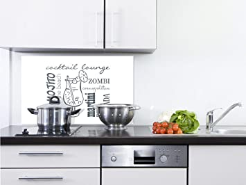 Grazdesign Kuchenruckwand Glas Weiss Ruckwand Kuche Dunkelgrau