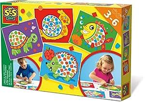 SES Creative - Aprendo a hacer mosaicos, kit de juego, multicolor (14827)