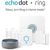 5-Piece Ring Alarm Home Security System Kit + Amazon Echo Dot (3rd Gen)