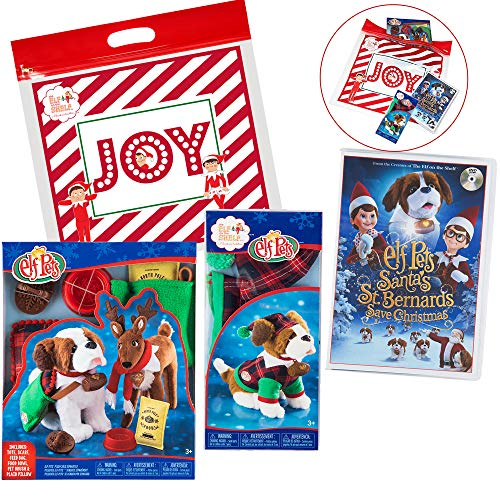 - Elf on The Shelf St Bernard's Accessories Set, with Good Tidings Pet Clothes, Playful Puppy PJs, and St. Bernards Save Christmas DVD