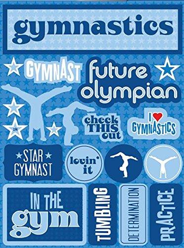 Gymnastics Scrapbook Stickers - Reminisce RSD-144 Gymnastics Signature Series Dimensional Cardstock Stickers