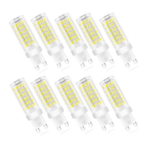 Bombilla LED G9, 9 W (equivalente a halógeno de 70 W), bombillas G9 para iluminación del ...