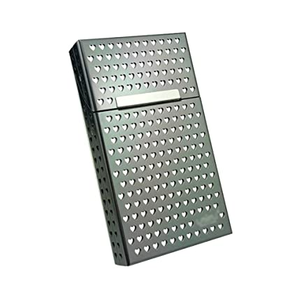 QLIGHA Funda de Cigarrillos para Mujer En Forma de corazón Aleación de  Aluminio Cubierta con Solapa 7c36b45e90d