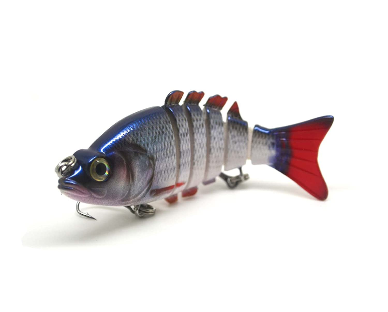 Swimbait multi articulée Leurre méné réaliste motif Roach et nager action pour le brochet, la perche, le sandre et basse 83mm 12 grammes FISHIN ADDICT 003