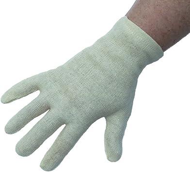 Dermatológicos Hidratante pelusas/guantes de algodón. Promueve crema absorción. Ideal para la piel seca las condiciones, Spa dormir belleza guantes (2 pares): Amazon.es: Salud y cuidado personal