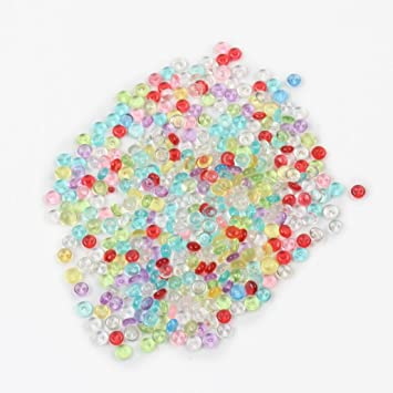 Pecera Beads perlas de colores para crujientes Slime casera DIY Crafts party-kingwo manualidades infantiles para decoración para fiesta o boda: Amazon.es: ...