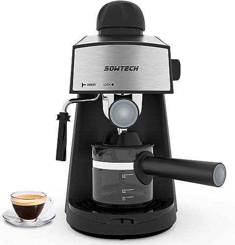 Espresso Machine 3.5 Bar 4 Cup Espresso Maker Cappuccino Machine