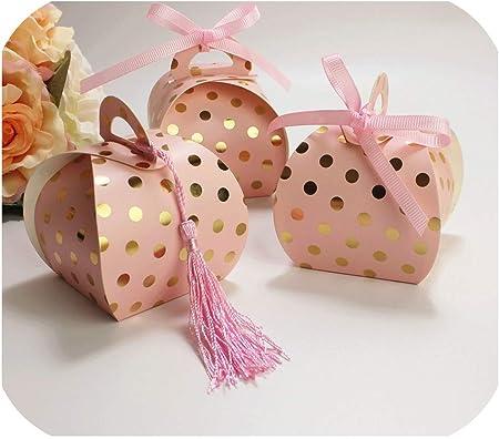 Dimen-candy box 50 Cajas de Regalo de Lunares pequeñas para Galletas, Dulces, Bodas, Fiestas, Regalos, Cajas de Papel, Cajas de cartón: Amazon.es: Hogar