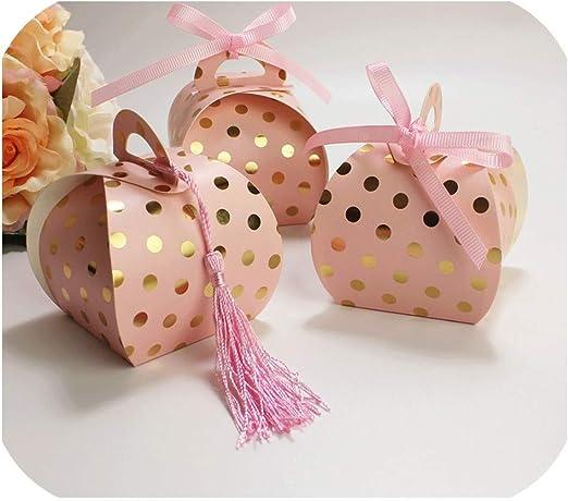 Dimen-candy box 50 Cajas de Regalo de Lunares pequeñas para ...