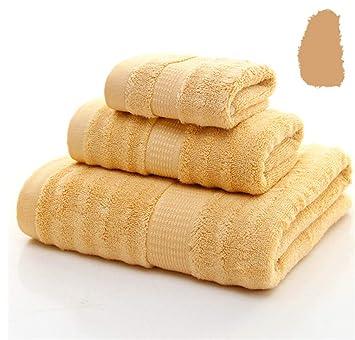 BIANJESUS Conjunto de Toallas de algodón 3 Piezas 1 Toallas de baño 1 Toallas de mano1 ...