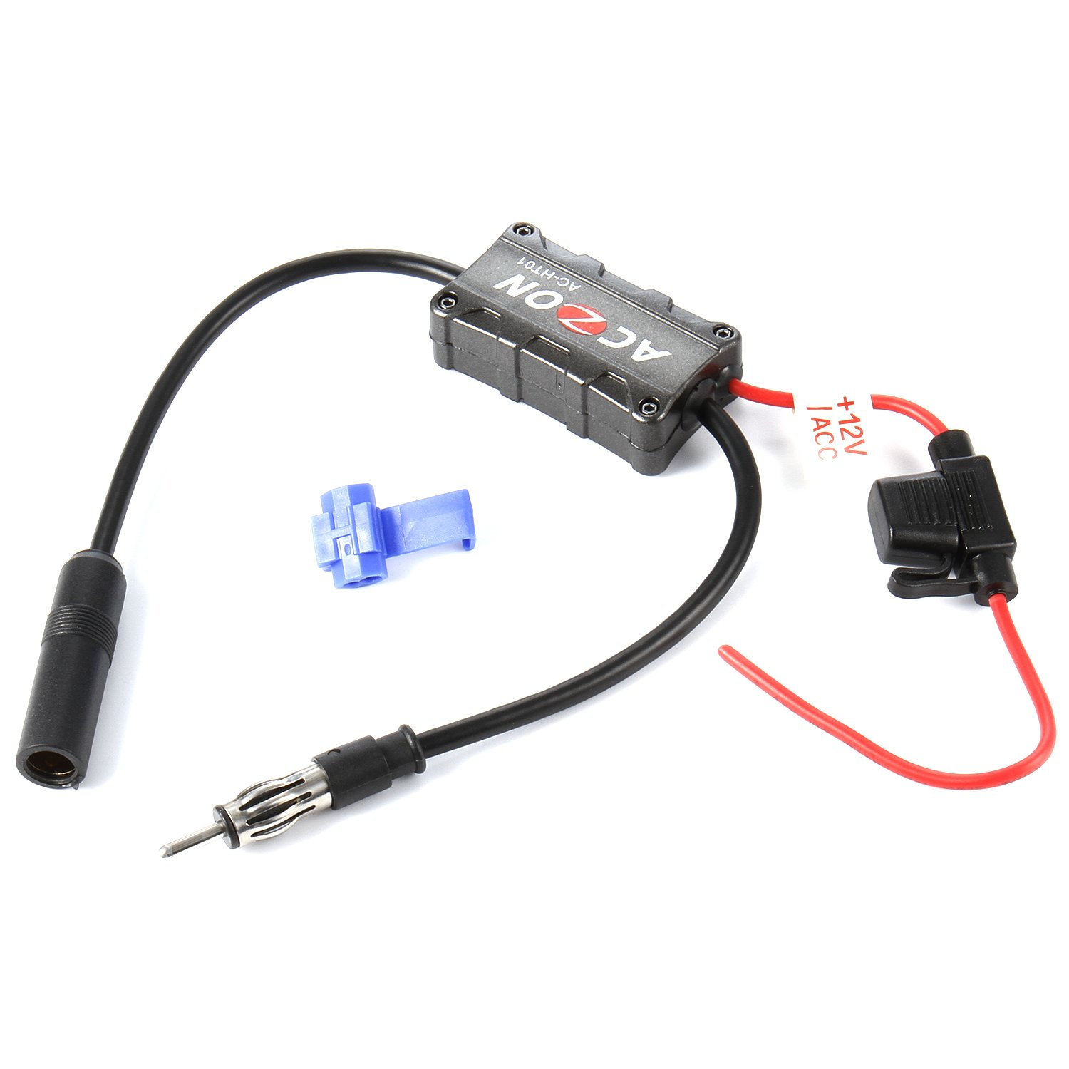 Vehicles Car Radio FM Antenna Signal Amplifier Booster for Both AM and FM Radio Stations