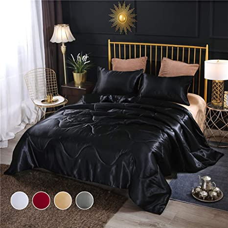 2PCS-Silky Satin Pillowcase Bedding Comfortable Ultra Soft Household Goods
