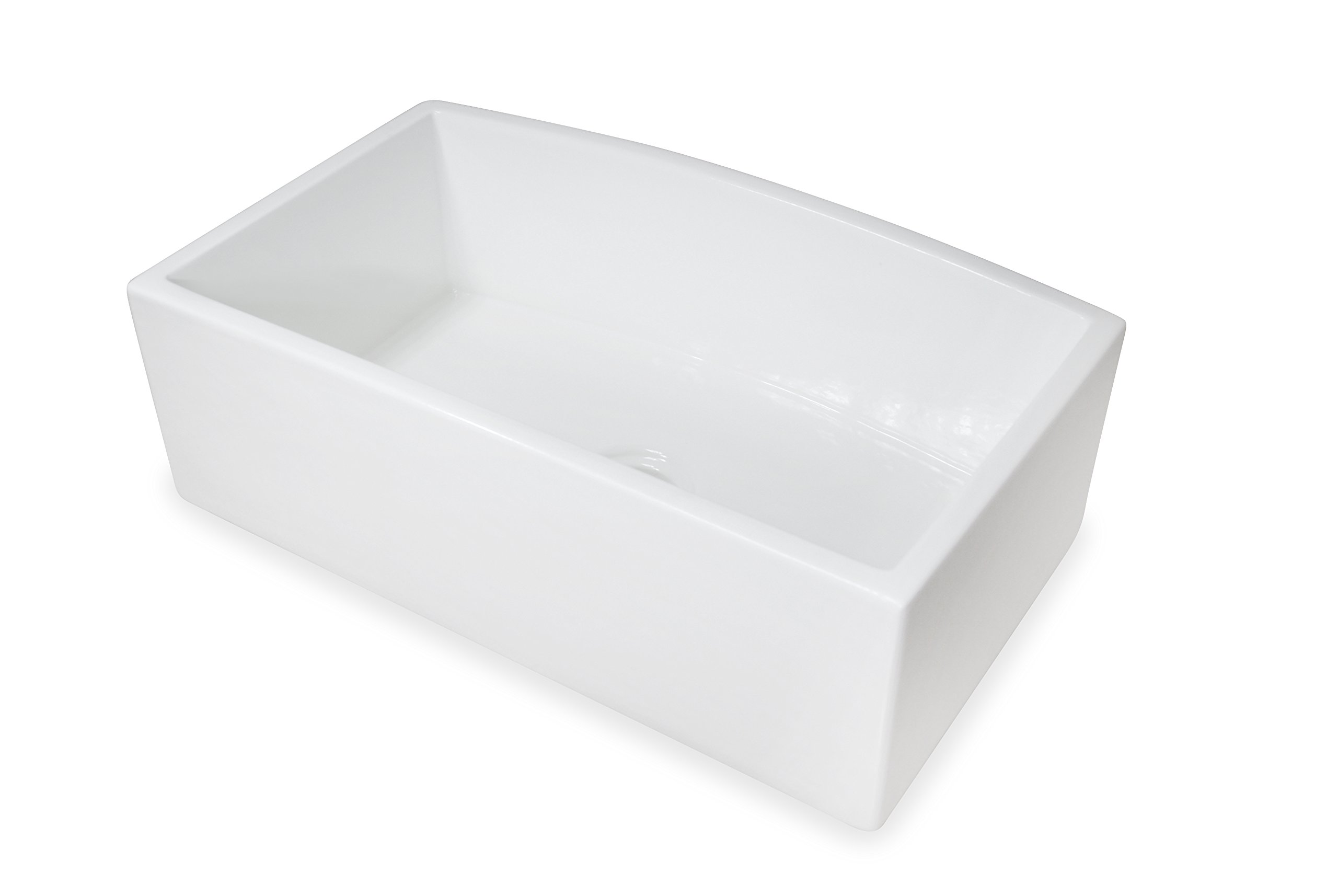 Regallo TRUE FIRECLAY Reversible 30'' Apron Front Sink by MOCCOA, Farmhouse Kitchen Sink White … by MOCCOA (Image #5)