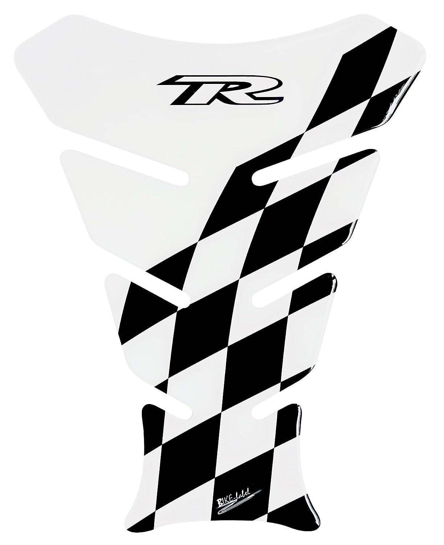 Paraserbatoio 3d 501311/Racing Flag Black trasparente trasparente/ /Protezione serbatoio universale adatto per serbatoi del motociclo /permette di parzialmente trasparente durchscheinen/