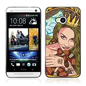 YOYOSHOP [Cool Vintage Tattoo Woman] HTC One M7 Case