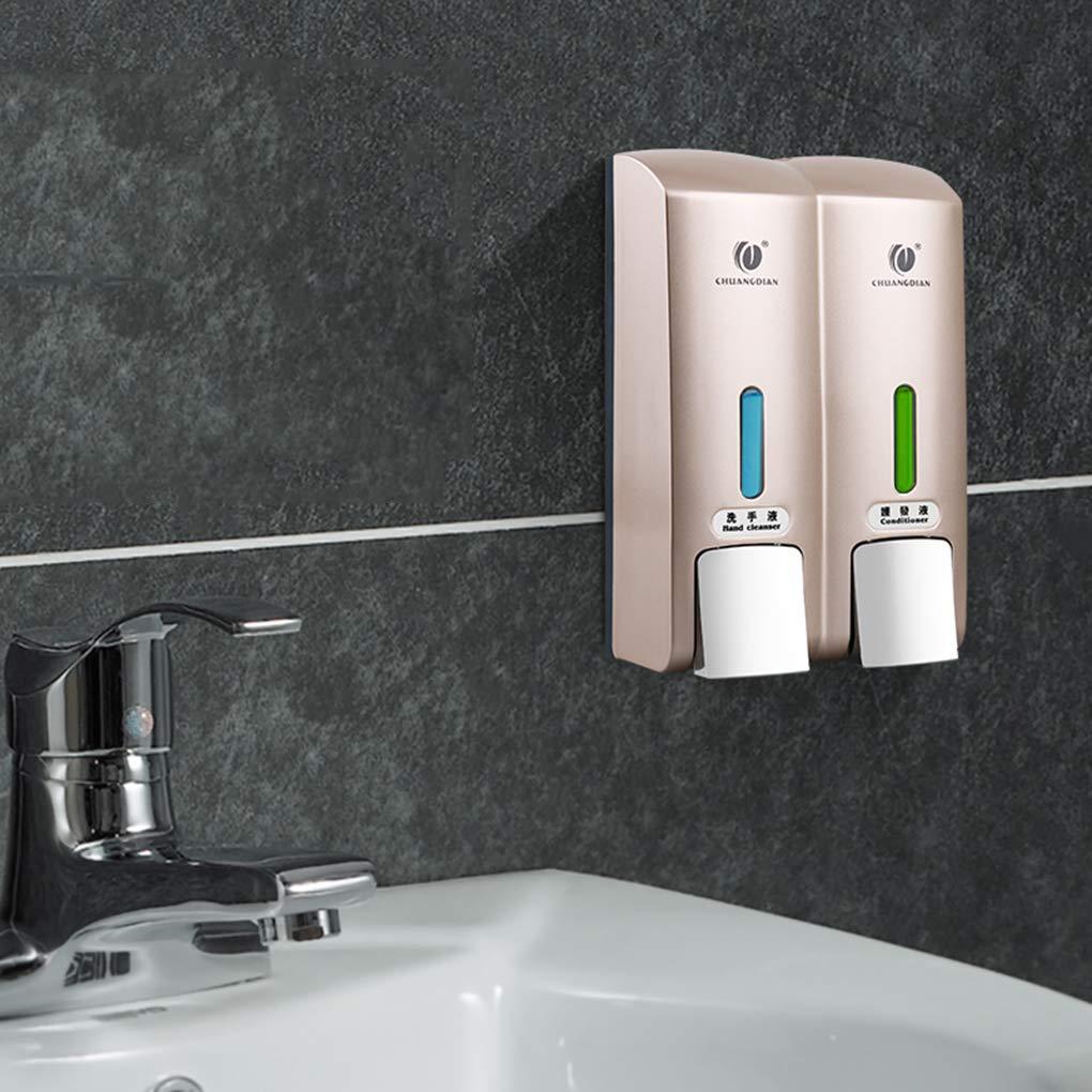 Amazon.com: Onepeak CHUANGDIAN Wall-mounted Two Chamber Manual Soap Dispensers Shampoo Box Rest Room Washroom Toilet Shampoo Shower Gel Liquid Soap ...