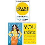 The Miracle Morning, Everything is Figureoutable, You Are a Badass 3 Books Collection Set