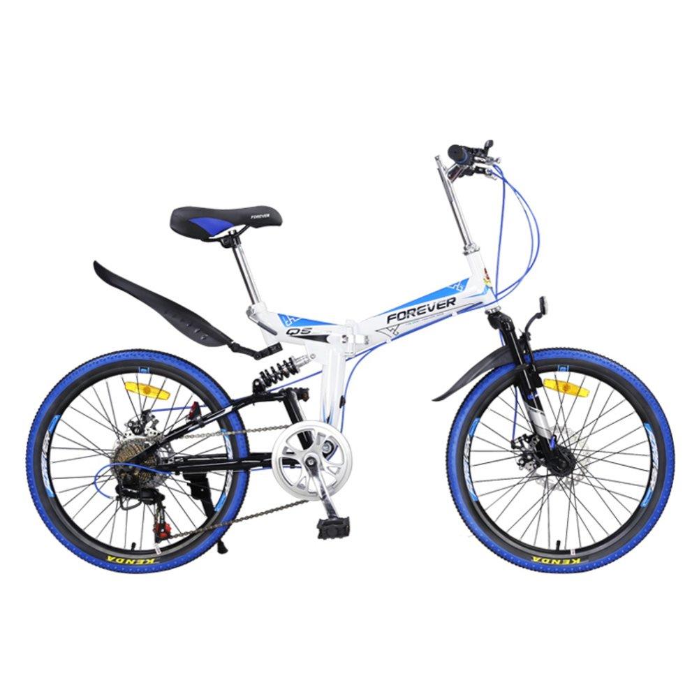 登山 折りたたみ自転車, 大人 折りたたみ自転車 学生 若者 超軽量 ポータブル 7 スピード シマノ 柔らかい尻尾 折りたたみ自転車 B07D2CFN2C白 22inch